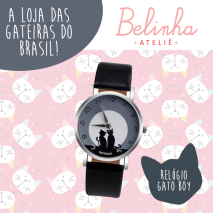 Relógio-Gato-Boy